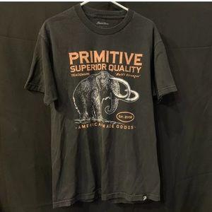 Primitive Built Stronger Mammoth T Shirt Sz L Men